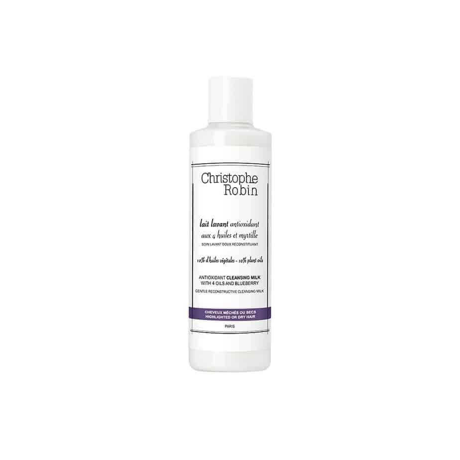 Leche limpiadora cabello teñido Christophe Robin Antioxidant Cleansing Milk with 4 Oils and Blueberry