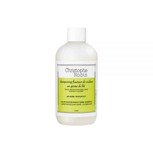 Champú cabello teñido Christophe Robin Color Fixator Wheat Germ Shampoo